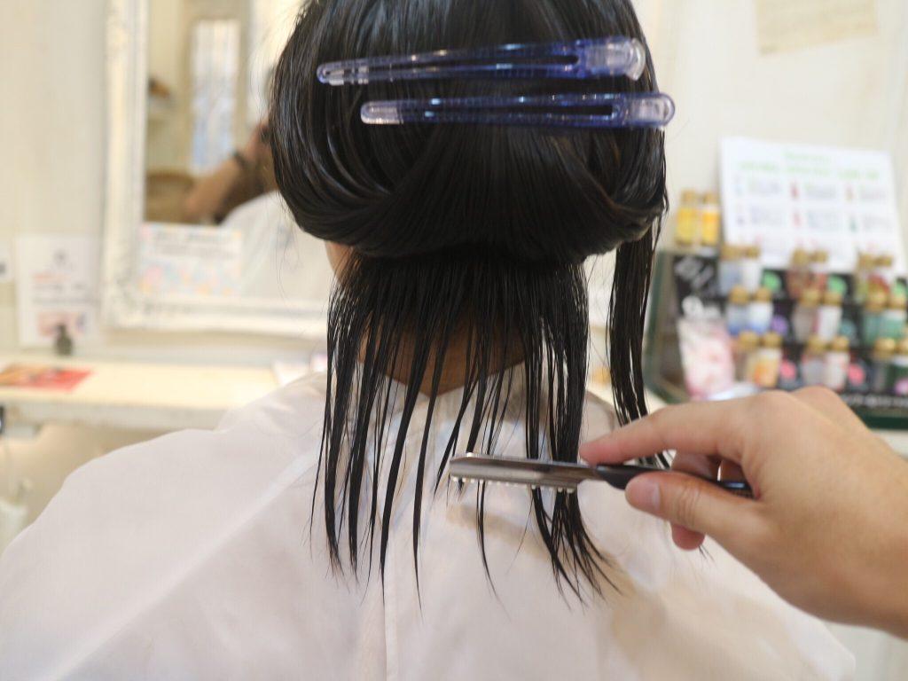 美容室,ショートヘア ,カット