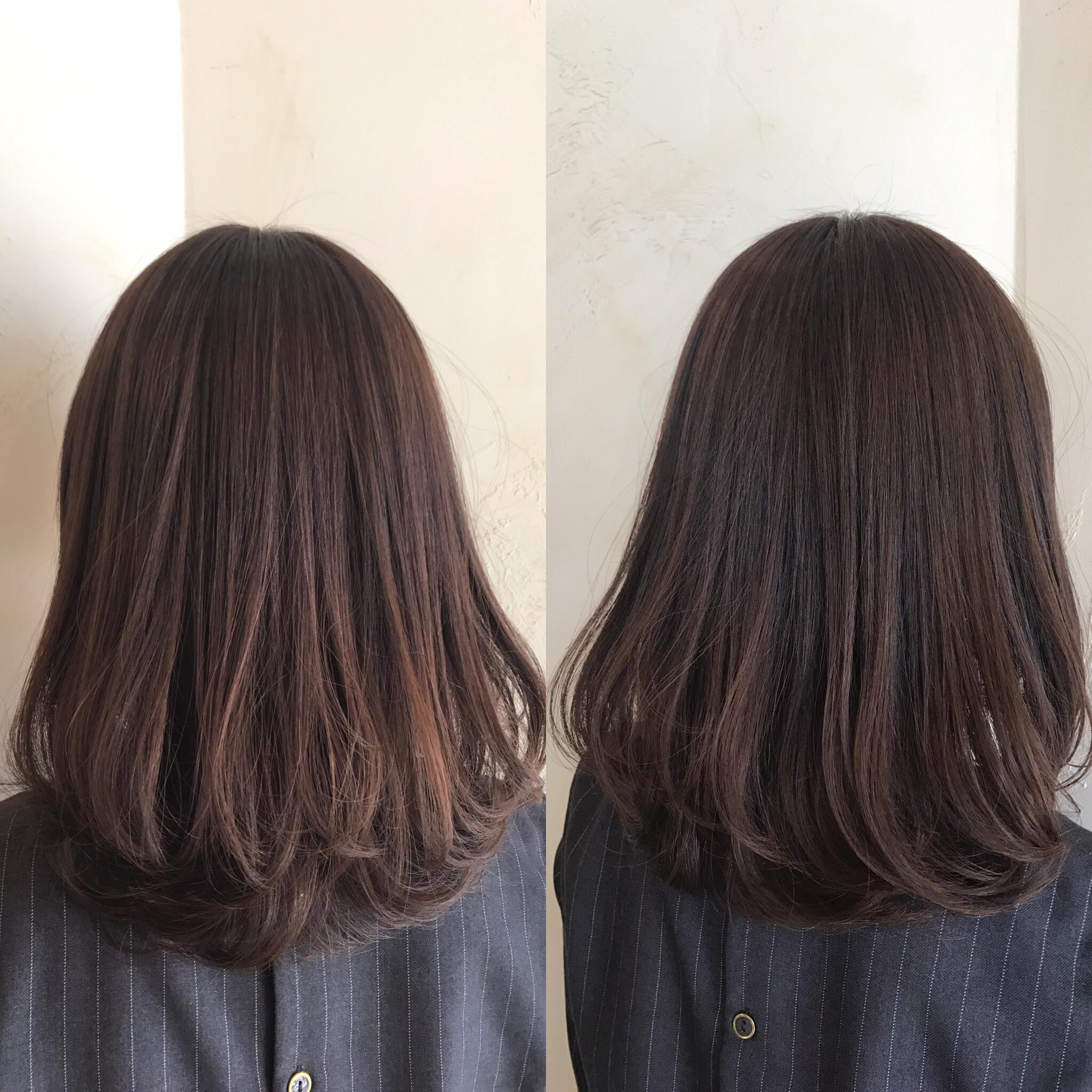 美容室カットカラートリートメントスタイル巻き髪