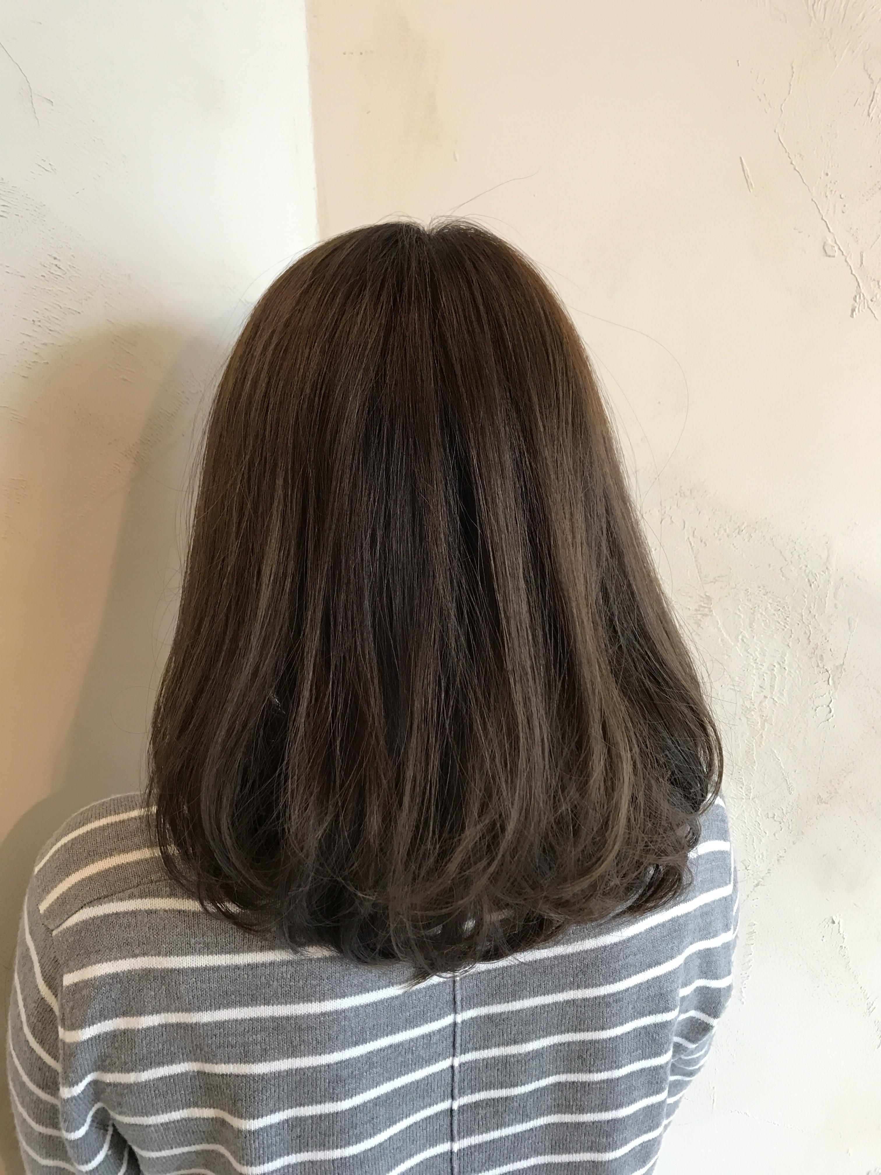 美容室コテ巻き髪ワンカール
