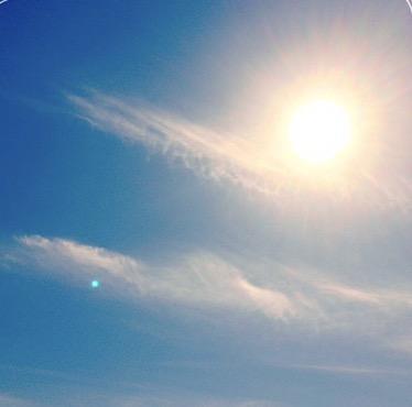 いい天気空太陽