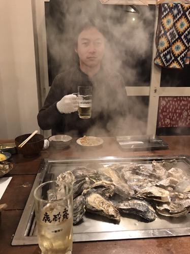 牡蛎焼き,お酒