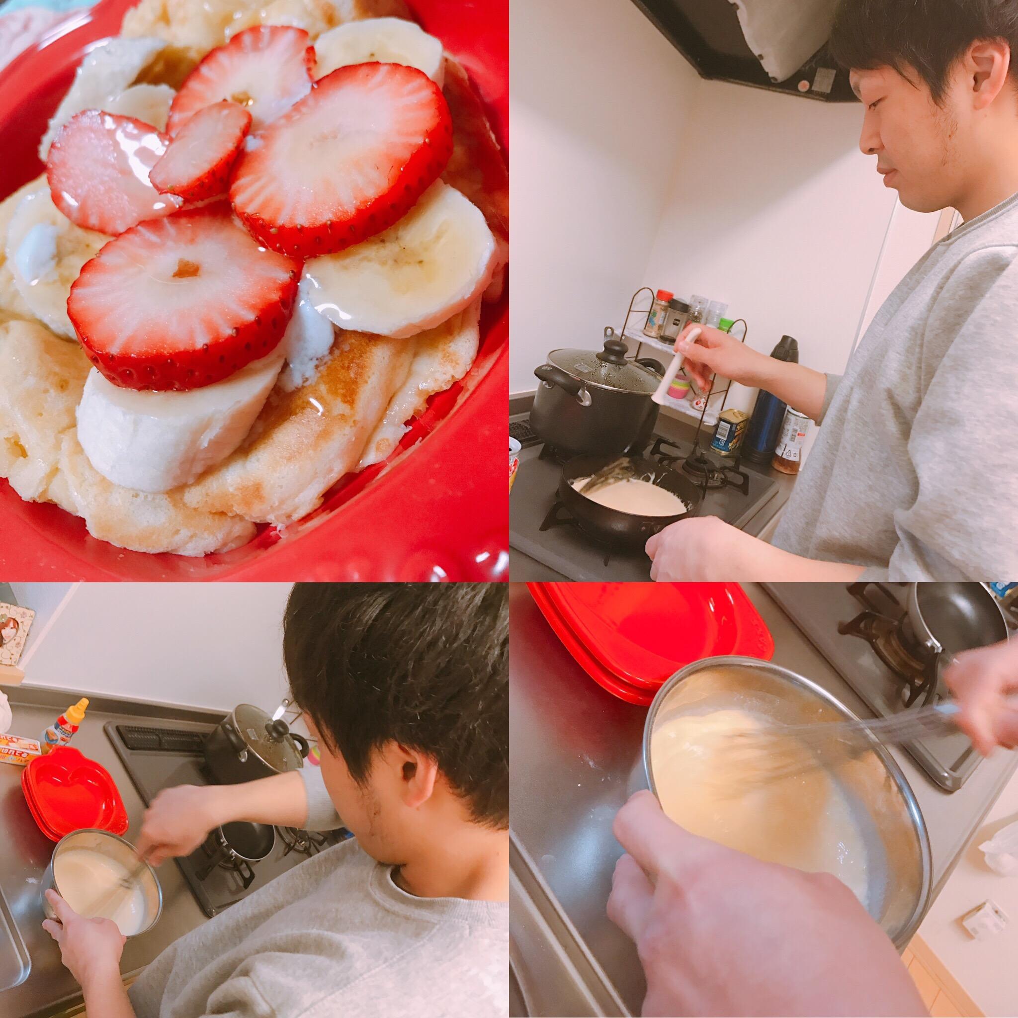 手作りパンケーキ