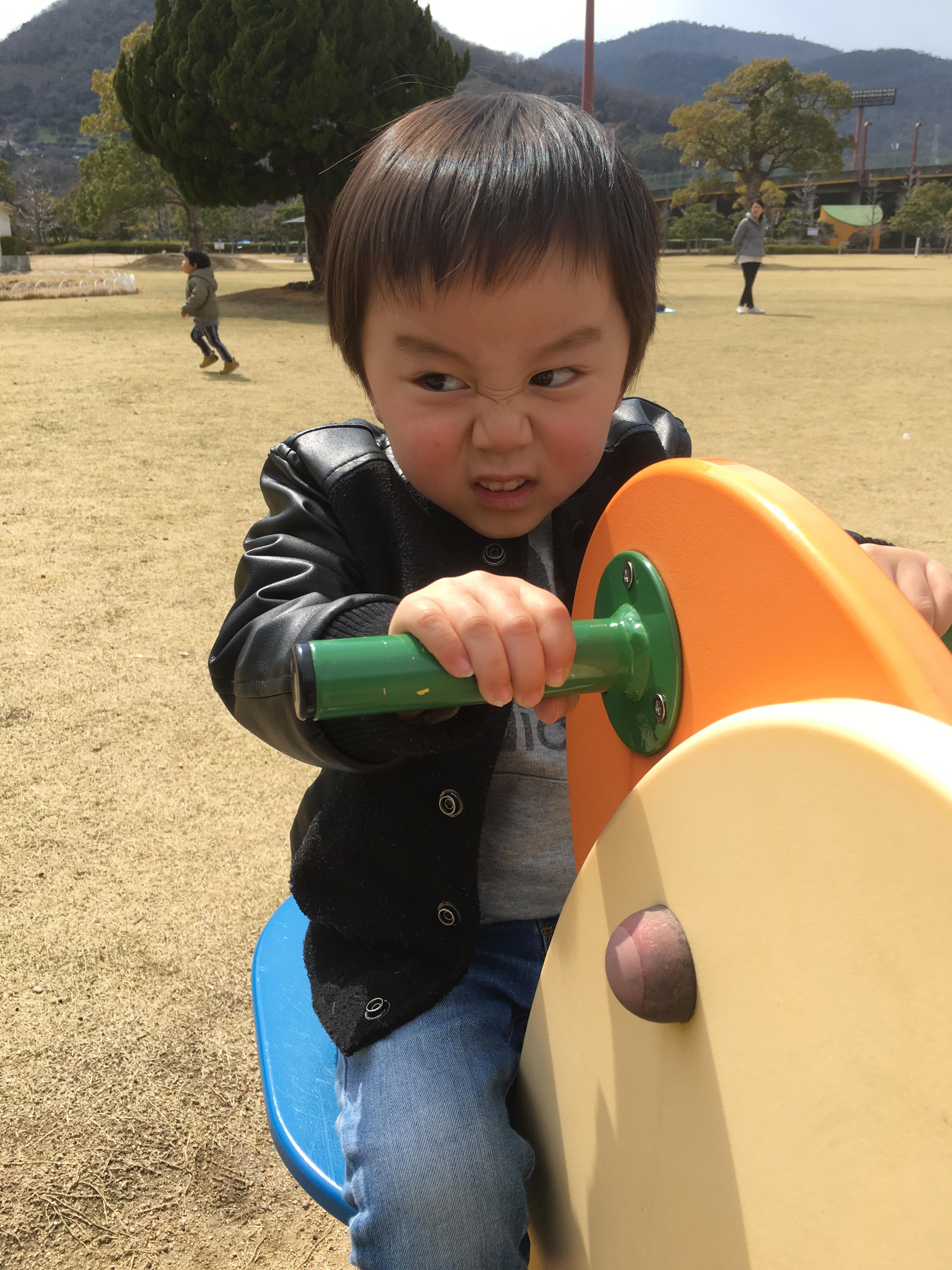息子と公園