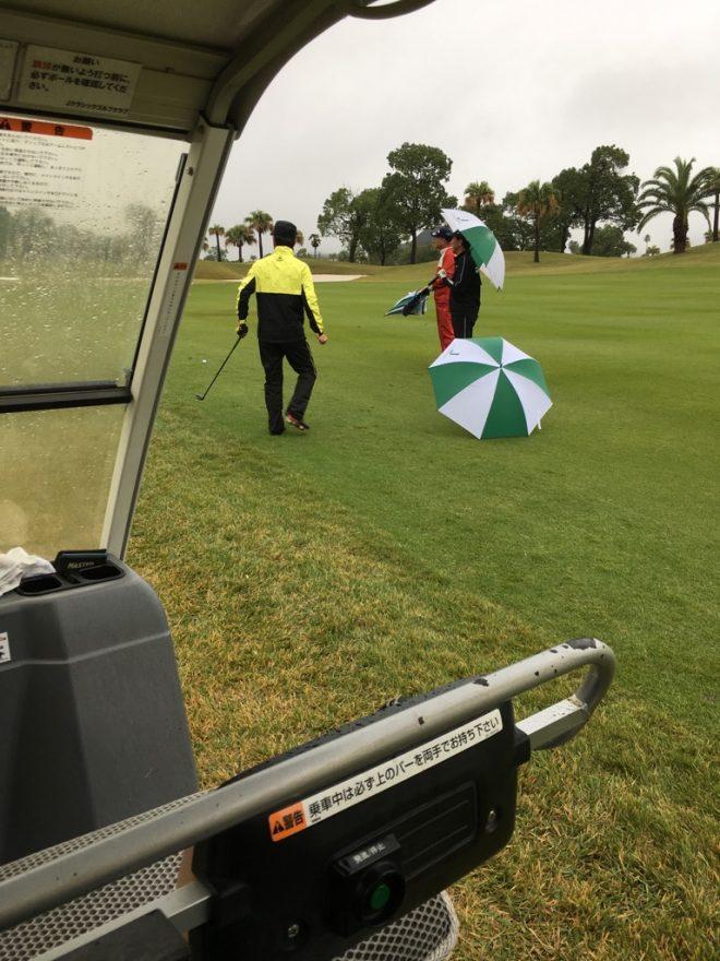 雨,ゴルフ