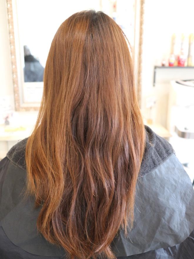 カラー前,髪型