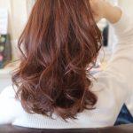 ラベンダーピンクのミディアムヘア♪