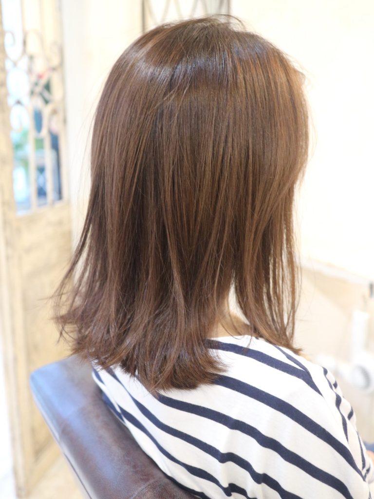 ミディアム,髪型,外はね,美容室