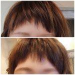 前髪にもスタイリング剤を☝️☝️☝️
