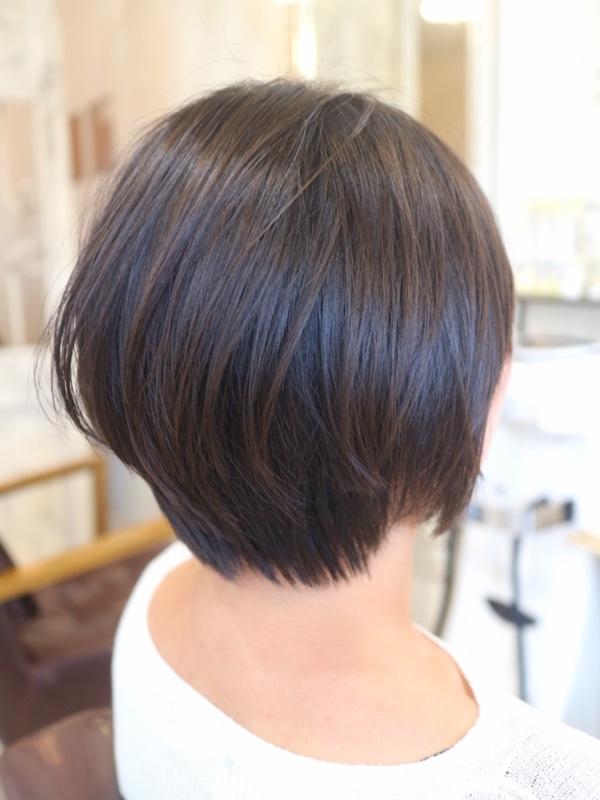 ひし形ショートヘア