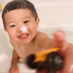久しぶりの息子とのお風呂タイム🛁⋆