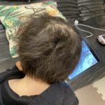 乾かして寝た時と半乾きで寝たときの息子の髪事情👦🏻🙆🏻♀️🙅🏻♀️
