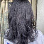 ブルーカラーで暗髪Style